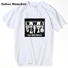 N.W.A Nuns With Attitude T-Shirt Straight Outta Compton T Shirt Men's Hip Hop Rap Short Sleeve harajuku camisetas Graphic Tee