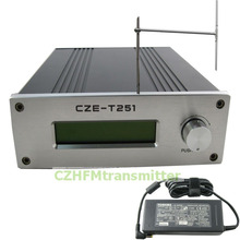 CZH CZE-T251 0-25W power adjustable Professional FM stereo broadcast transmitter +1/2 wave dipole antenna kit(China)