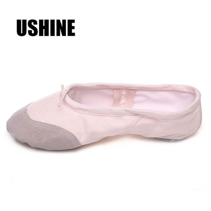 Professional Pink Yoga Slippers Indoor Exercising Shoes Ballet Shoes Dance For Girls Canvas Ballet Dance Girls Kids women(China)