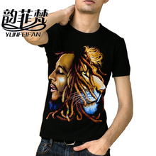 Bob Marley 2017 reggae music rock and roll music Black printing design cotton T-shirt men heavy metal t shirt free shipping