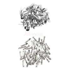 100pcs Silver Metal Snap Hair Clips Bulk and French Barrette Silver Hair Clips Sliders DIY Baby Girl Hair Bow Hair Accessories(China)