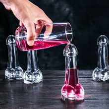 ZELU 1pcs Man Penis Shape Glass Cup 150ML Funny Penis Cocktail Wine Glass for Parties Bar KTV Party Night Show and Lovers