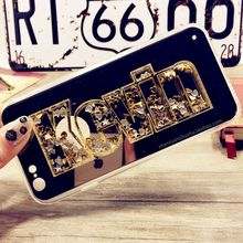 Luxury Exclusive Glitter Customize Name Personal Mirror Case for Samsung Galaxy A J Series A3 A5 A7 A8 J1 J2 J3 J5 J7 G530 2016(China)