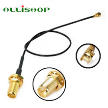 ALLiSHOP 0-3Ghz Wifi router Wireless phone AP Extension pigtail RP SMA female brooches plug to U.FL IPX connector 1.13 cable