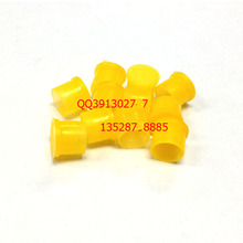 10pcs/lot Plastic covers Dust cap for SMA RP-SMA female RF connector yellow