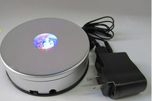 NEW 4 inch RGB LED Crystal Light Rotating Mirror Top Base Portable Display Stand