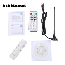 kebidumei Digital DVB-T2/T DVB-C USB 2.0 TV Tuner Stick HDTV Receiver with Antenna Remote Control HD USB Dongle for PC/Laptop(China)