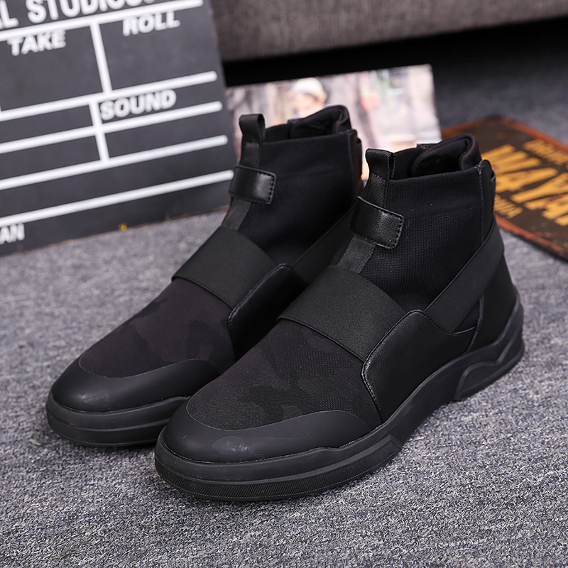 New England Style Men's Casual Winter Boots Fashion Slip On Platform Boots Shoes Flat Heel Army High Top Men Martin Ankle Boots(China (Mainland))
