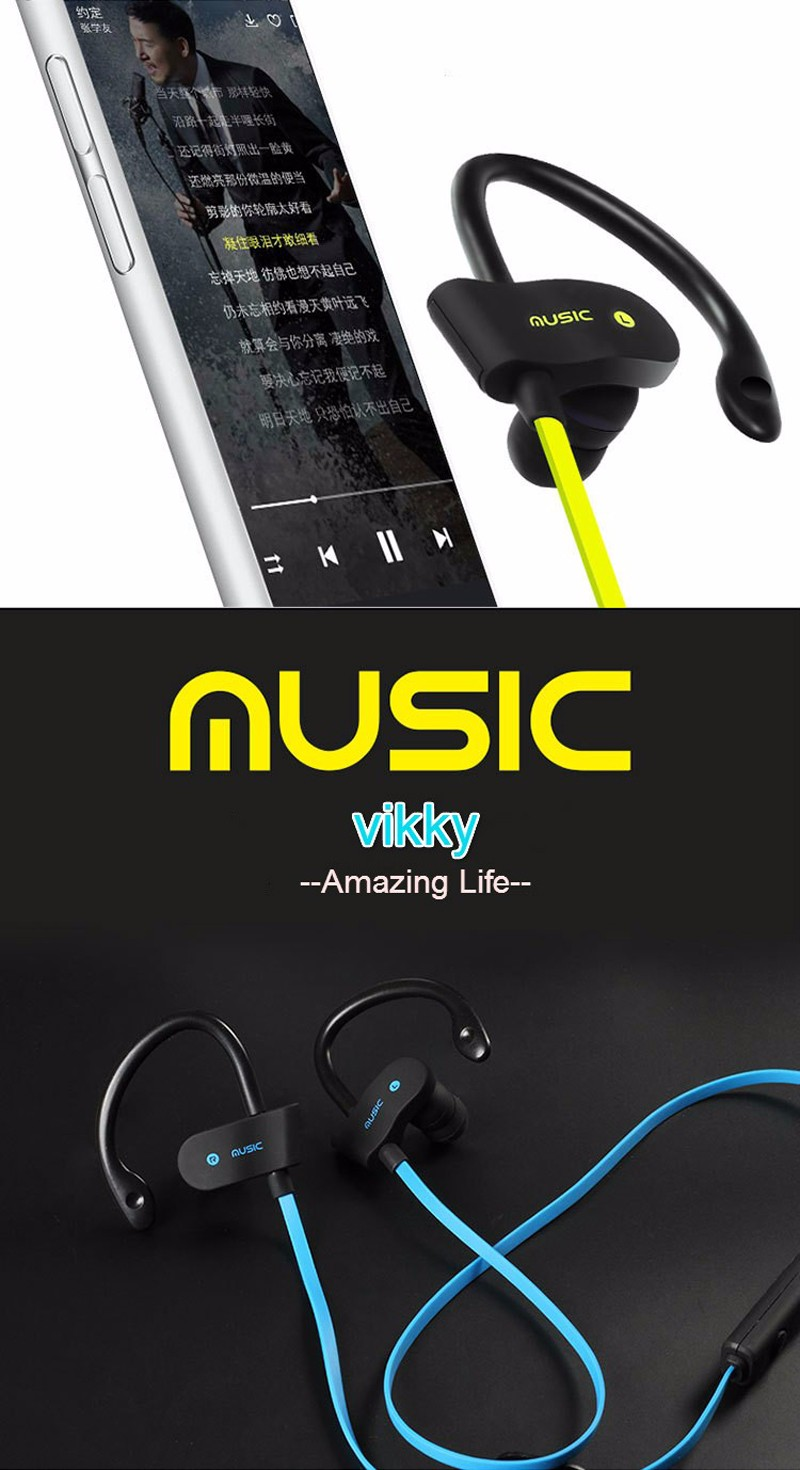 S4 Bluetooth Headset Wireless Earphone Headphone Sport Running Earphones Earbuds Stereo Music with Microphone for iPhone 7 xiaom (12)