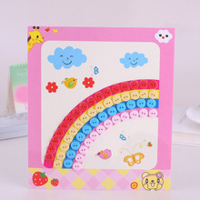 8/12pcs Kids DIY Button Sticker Picture Multicolor Handmade School Art Class Painting Drawing Craft Kit Children Educational Toy(China)