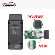 High Quality Opcom V1.78 V1.70 Optional with PIC18F458 Chip OP-Com OBD II OBD2 Diagnostic tool for Opel OP COM CAN BUS Interface(China)