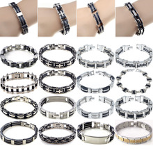 Classic Men's Stainless Steel Bike Chain Wristband Bracelet Bangle Jewelry Gift Bike Chain Bracelet Bangles For Men Jewelry