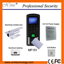 Fingerprint access control system MF151 125KHz rfid reader password keyboard + electrical interlock toolbox (office/house