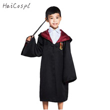 Gryffindor Cosplay Costume Robe Cloak Kids School Uniform Slytherin Ravenclaw Hufflepuff Cape Boys Grils Covers Role Play Fancy(China)