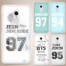 Bangtan BTS Number Hard White Cell Phone Case Cover for Xiaomi Mi Redmi Note 4 Pro 4A 4C 4X 5X 5 6(China)