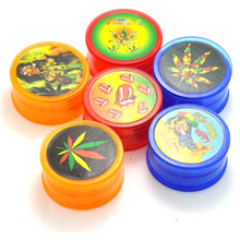 Plastic Grinder Price 43mm 3 layers Tobacco Pollen Hand Grinding Smoking Pipe Wholesale Grinder 5 Colors