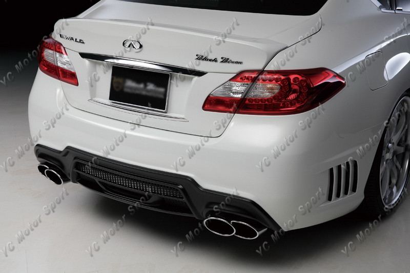2011-2013 Infiniti M Series Sedan Nissan Fuga Y51 Wald Sports Line Black Bison Edition Style Rear Bumper FRP (16)