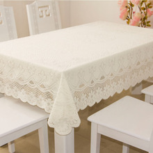 White Lace table cloth Floral Embroidered tablecloths for weddings Bedside Cabinet Refrigerator Cover Towel manteles para mesa