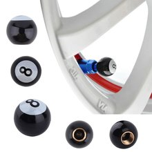 "Universal Car Truck Bike ""Pool 8 Ball"" Tire air Valve Stem Caps Wheel Rim Mountain Bikes Road Bicycles"
