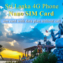 Sri Lanka 20 Days Plan Sim Card 15GB Data 4G Mobile Phone Card Travel Sim Card Without Call(China)