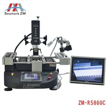 ZhuoMao ZM-R5860C Three Temperature Zones Infrared & Hot air BGA Rework Station reballing machine with CCD camera and monitor