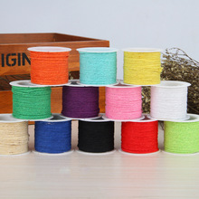 1.2mm Mixed Color Cotton Cord String Strap reel bobbin wire spool Fit Necklace Bracelet DIY jewelry Accessories 10PCs/Bag 10m/PC