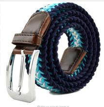 Fashion Men Women's Casual Woven Braided Stretch Elastic Belt Waistband Waist Strap Stylish Practical For Female Male Jeans