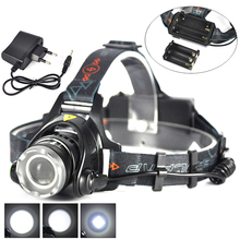 Zoomable XML T6 LED 2000Lumens 3 Mode Headlamp Headlight Flashlight Torch Bicycle Head Light Lamp Power by AAA 18650 Battery