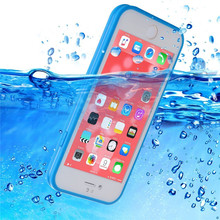 JERX 360 Degree Waterproof Phone Case For iPhone 5S SE 6 6S 7 Plus Case Radiating Shockproof TPU Swimming Case Cover Protector