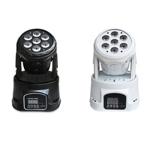 1 Pieces Led Stage Light RGBW Mini Moving Head Light Disco Party Night Club Pub Bar KTV 7x10W Moving Wash Light-in AC90-240V(China)