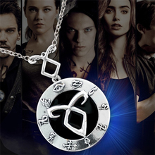 The Mortal Instruments City of Bones necklace vintage Angelic Power Runes Shadowhunters pendant for men and women wholesale(China)