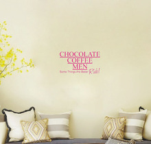 Chocolate Coffee Men wall decals vinyl stickers home decor living room decoration wall sticker bedroom wall paper quote murals