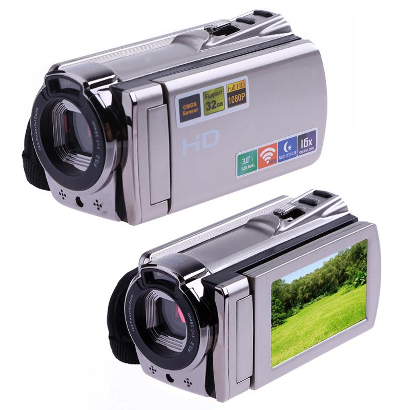 Wi-Fi Digital Camera HD 1080P Video Camera Camcorder Night Vision 8MP 16X Zoom COMS Sensor 3 inch TFT LCD Screen Wireless Camera 12