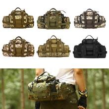 Nylon Tactical Waist Bag Molle pouch Outdoor Sport Military Fanny Pack Camera Pocket Messenger Shoulder Bag(China)