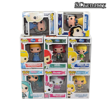 FUNKO POP Anna Elsa Princess Cinderella Hatsune Miku Tinker Bell Fairy Ariel Snow White Hello Kitty Action Figure Toy Doll CSHE1