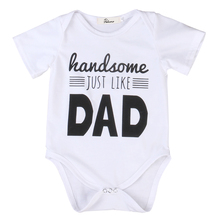 newborn Cotton baby dad onesie baby Rompers Girls Boys Clothes baby boy clothing set