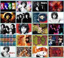 Handmade new Rock band The Doors Classic Series sticker 20/pcs PVC Art Crafts collection Gift wall Design sticker(China)