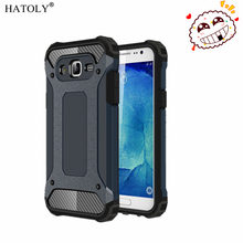 HATOLY For Capa Samsung Galaxy J7 2015 Case Galaxy J7 2015 Heavy Armor Slim Hard Cover Silicone Case for Samsung J7 2015 J700F#(China)