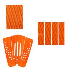 8 Pieces Orange Non-slip Diamond Grooved EVA Surfboard Skimboard Shortboard Surf Traction Pad Deck Grip Tail Pads Accessories