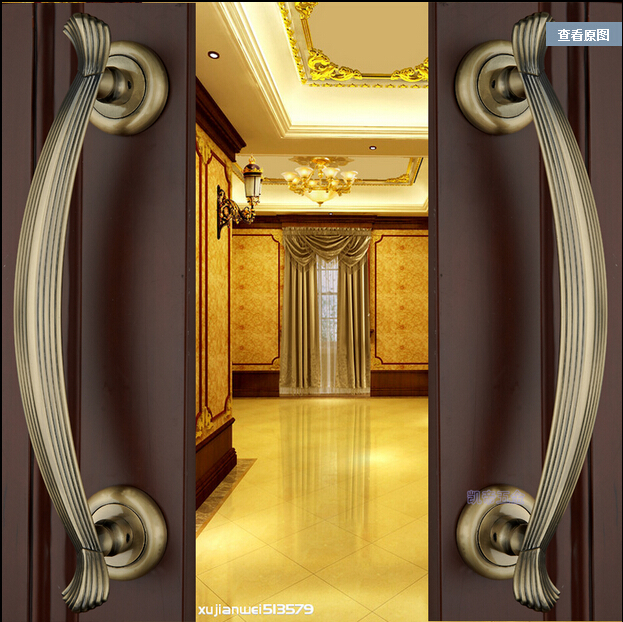 2 pcs free shipping Door shake handshandle european-style villa door shake handshandle archaize wooden door handle<br>