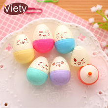 6 pcs/lot smile egg mini highlighter pen marker pens kawaii stationery material escolar papelaria writing school supplies(China)