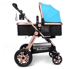 2017 Fashion New Newborn Luxury Baby Stroller Carriage Bag Infant Travel Car Foldable Pram  Pushchair with High Quality