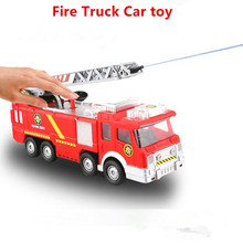 Water Gun Toy Truck Juguetes Fireman Sam Kids Toys Fire Truck Car With Music LED For Fire Truck Toys Educational Toy for Boys