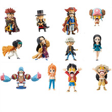 6pcs/set Two Style Anime One Piece Figures Roger Usopp Chopper Robin Law Kid Luffy Nami Action Figures Toys Gifts For Children