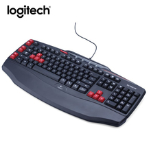 Logitech G103 Wired Gaming Keyboard Laptop PC Gamer Original Optical Mute Ergonomics Keybord Computer Games Programmable Keys