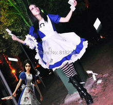 Alice Madness Returns Uniform Meidofuku Maid Apron Dress Outfit Cosplay Costumes