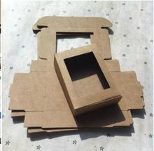 Joy Blank Kraft Paper Box ,gift box packaging hand mand Product Dispaly box 20pcs/lot 85*60*22mm Free shipping(China)
