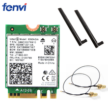 Dual Band 1.73Gbps Wifi Wireless AC For Intel 9260NGW Card NGFF 2.4G/5Ghz 802.11ac Wifi Bluetooth 5.0 Network Card With Antenna(China)
