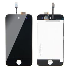 High Quality New LCD Digitizer Glass Touch Screen Assembly Replacement for iPod Touch 4th Gen 4G black white free shipping
