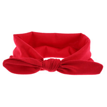 1pc Women Girls Headbands Cute Rabbit Ears Bow Hair Bands Cloth Headband Bowknot Headwear Hair Accessories the cheapest products